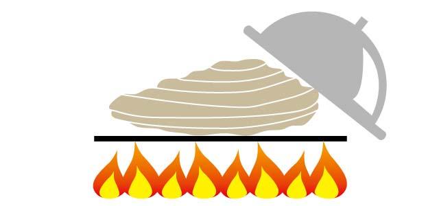 ②牡蠣を加熱する
